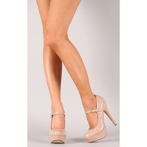 Bamboo Stiletto Mary Jane Pumps